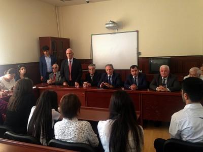 Media kapitanları BDU Jurnalistika fakültəsinin birinciləri ilə görüşüb