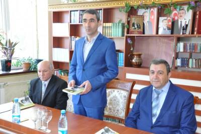 """BDU-da Mir Cəlal Paşayevin """"M.Ə.Sabirin sənət dünyası"""" kitabının təqdimatı  ..."""