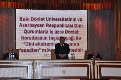 """BDU-da """"Dini ekstremizm və onun fəsadları"""" mövzusunda tədbir"""